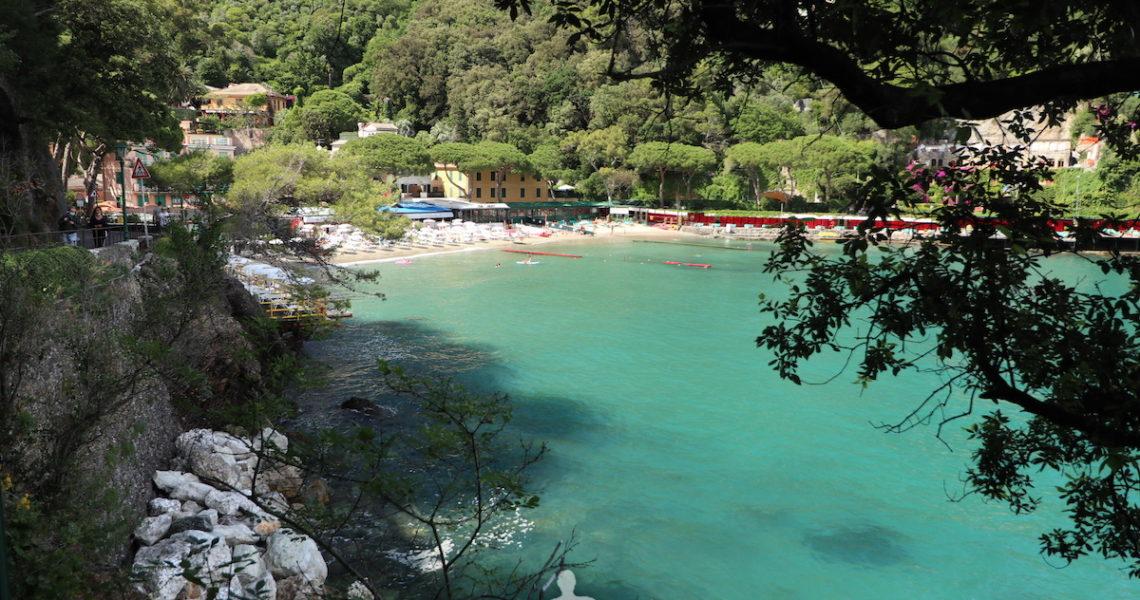 Il mare a Paraggi vicino a Portofino
