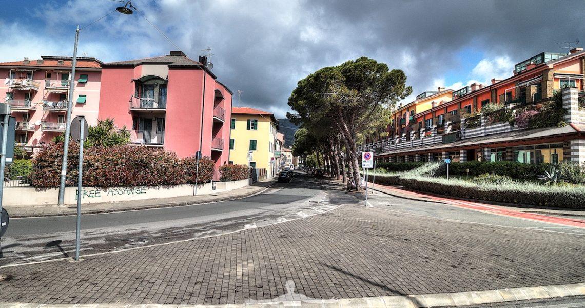 Viale Dante a Sestri Levante