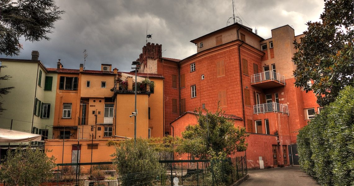 Il retro del Palazzo Fascie-Rossi a Sestri Levante