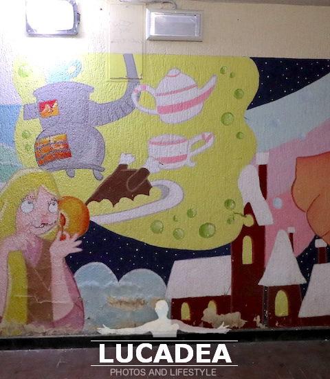 Tutti i murales nel sottopassaggio della stazione