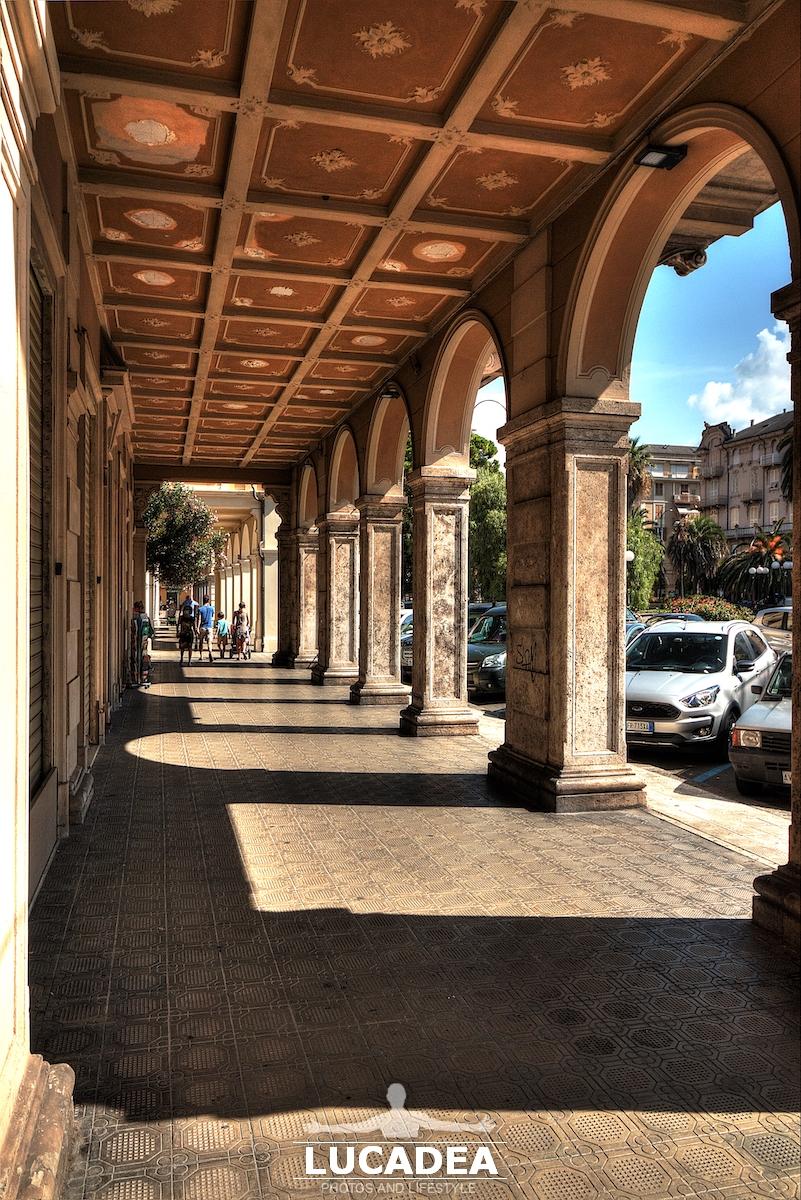 I portici di piazza Roma a Chiavari