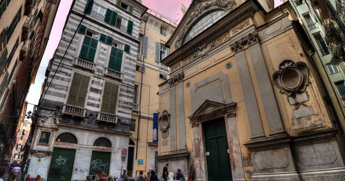 La chiesa di San Luca nei vicoli di Genova