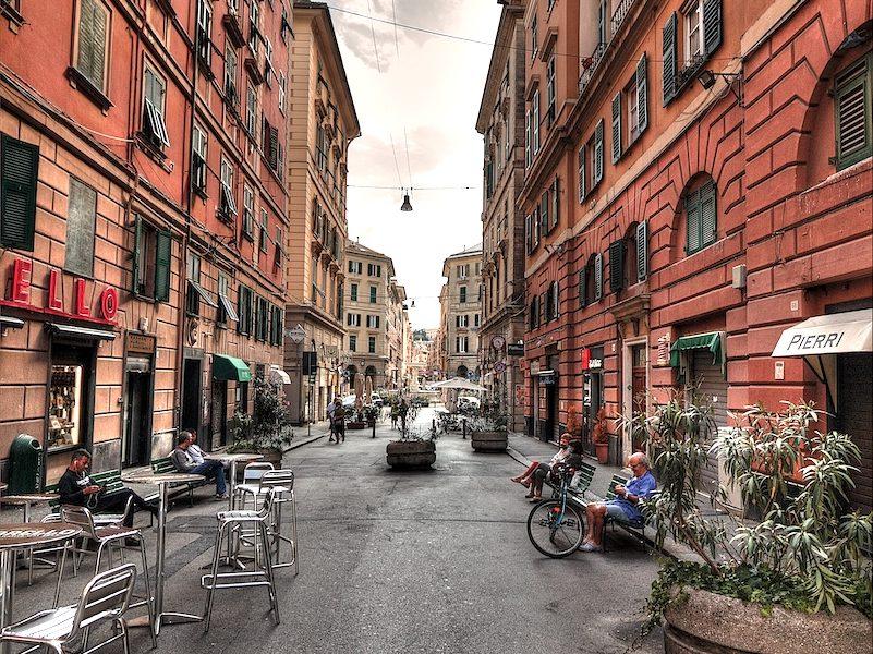 Via Galata a Genova