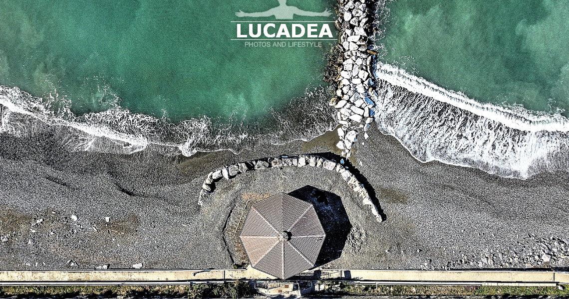 La spiaggia dall'Ottagono a Sestri Levante