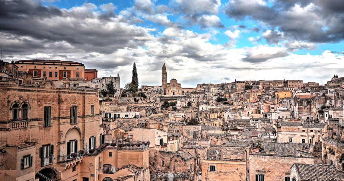 La vista sul Sasso Barisano a Matera