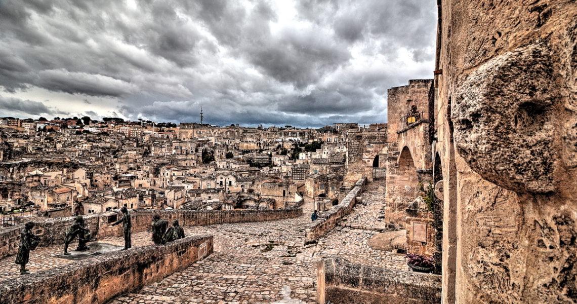 Uno scorcio di Matera in Basilicata