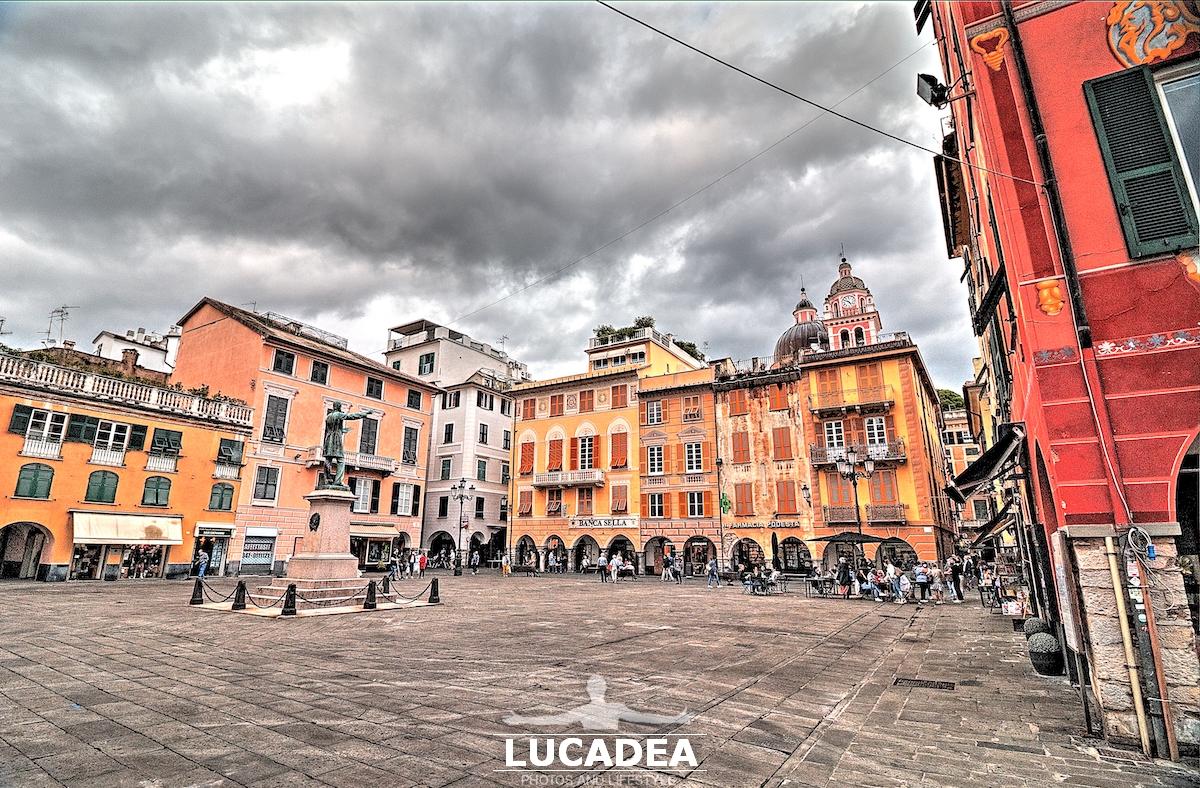 Piazza Mazzini a Chiavari