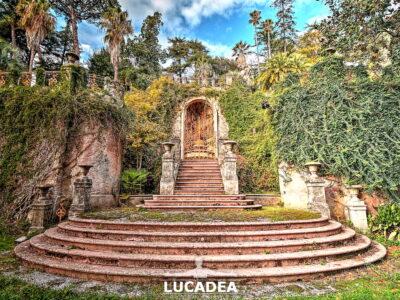 Scalone monumentale del Parco Botanico di Palazzo Rocca