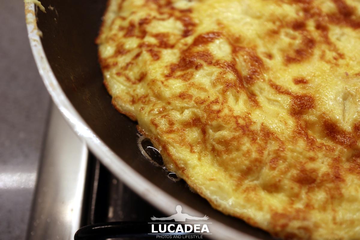 Omelette con il prosciutto cotto