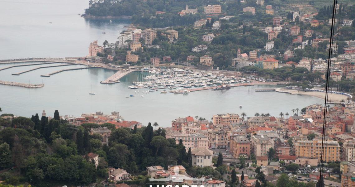 Rapallo ed il suo porticciolo dall'alto