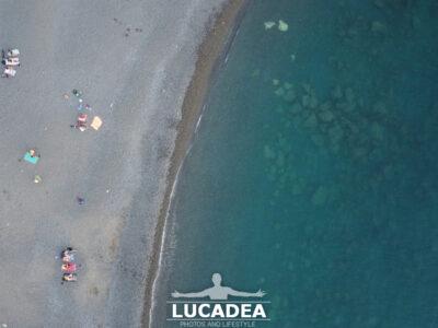 La spiaggia di Sant'Anna vista dal drone