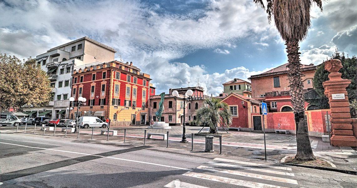 Piazza Bo a Sestri Levante