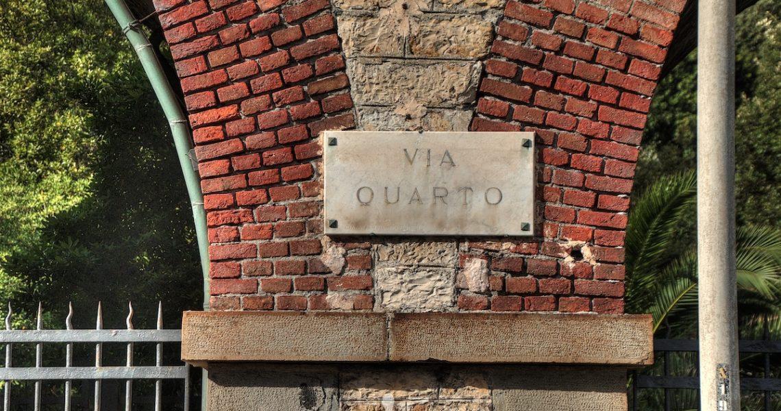 Via Quarto a Genova