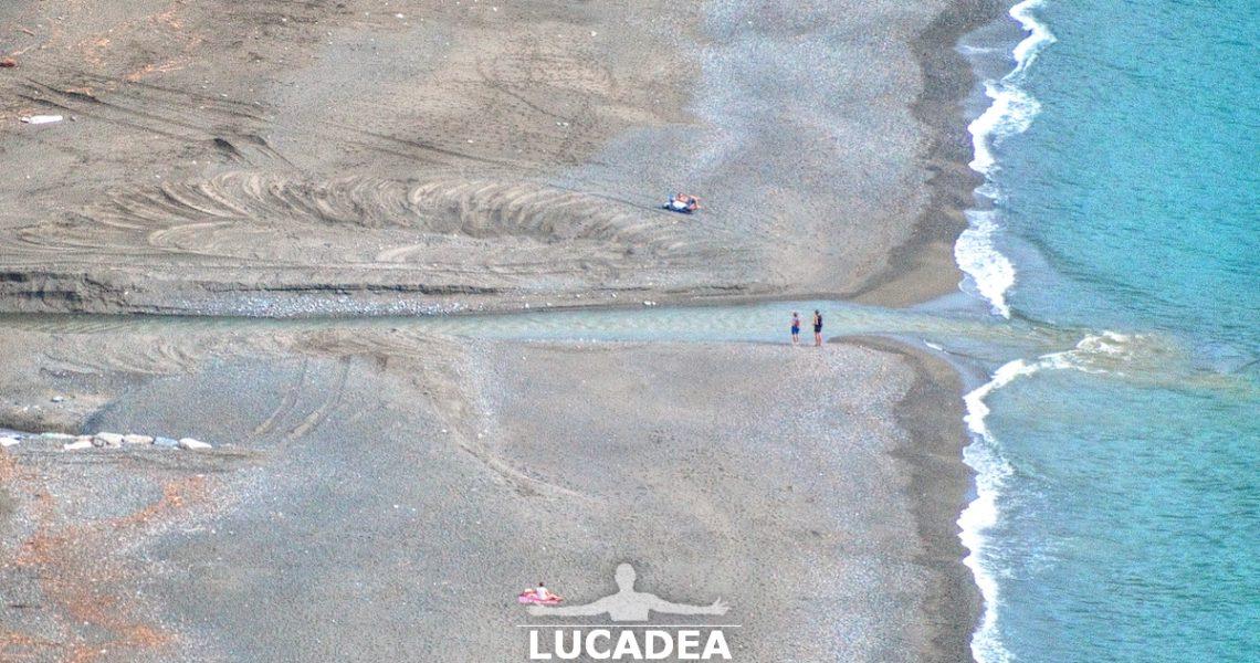 La foce del torrente Petronio a Riva Trigoso