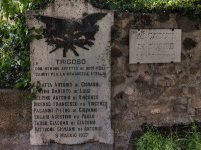 Lapide per i caduti della Grande Guerra a Trigoso