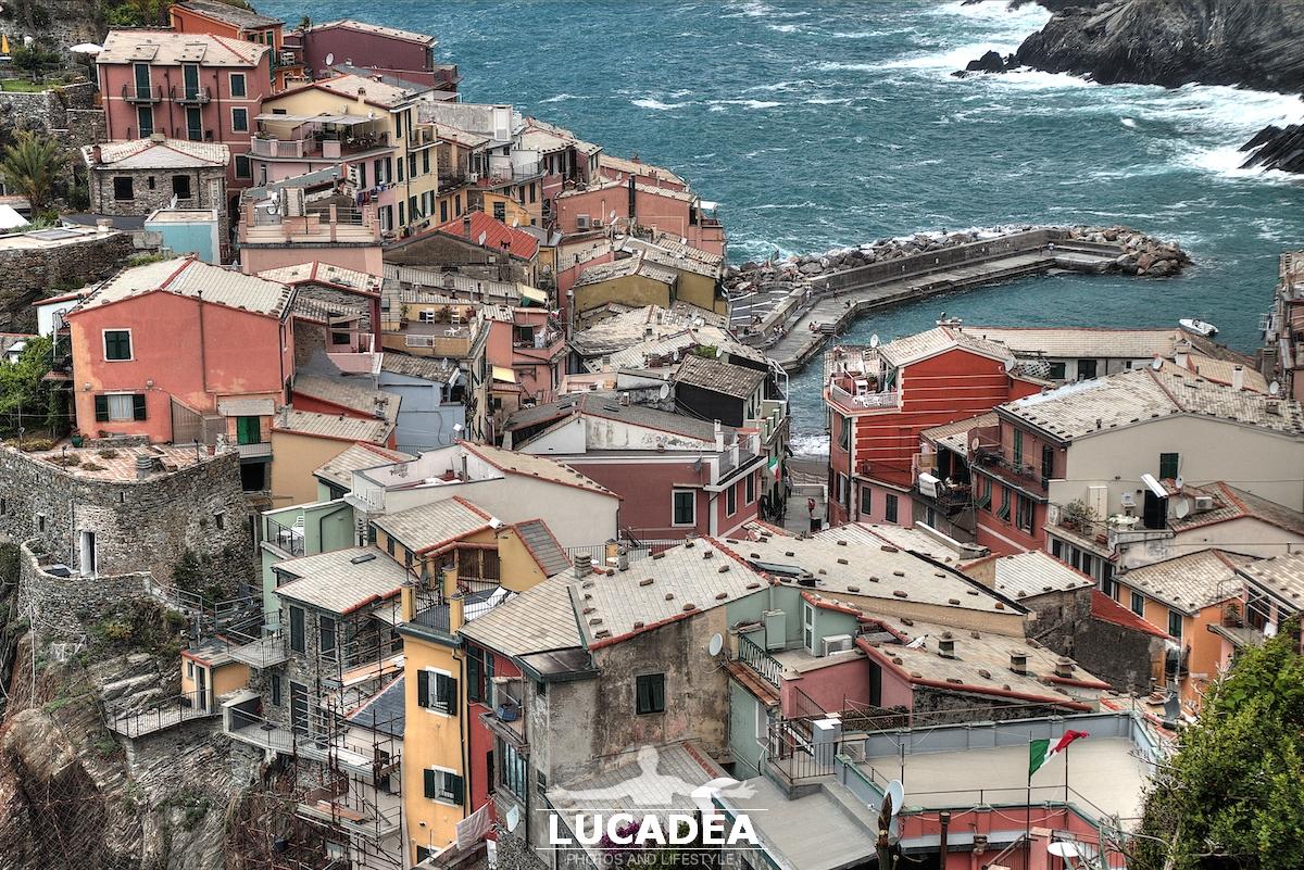 I tetti di Vernazza alle Cinque Terre