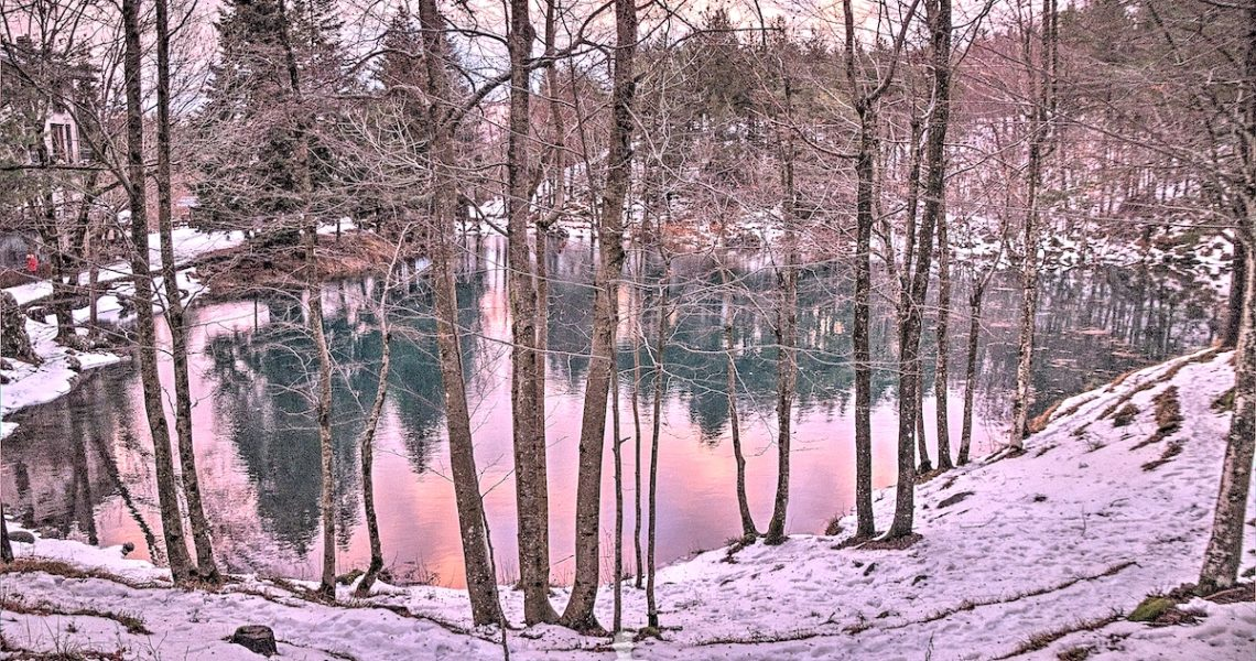 Il lago delle Lame al tramonto