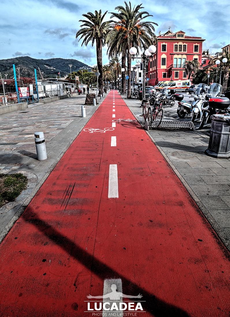 Pista ciclabile in passeggiata a Sestri Levante
