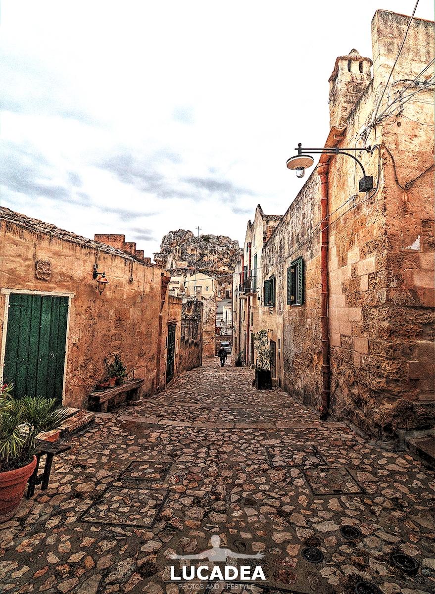 Una vietta di Matera in Basilicata