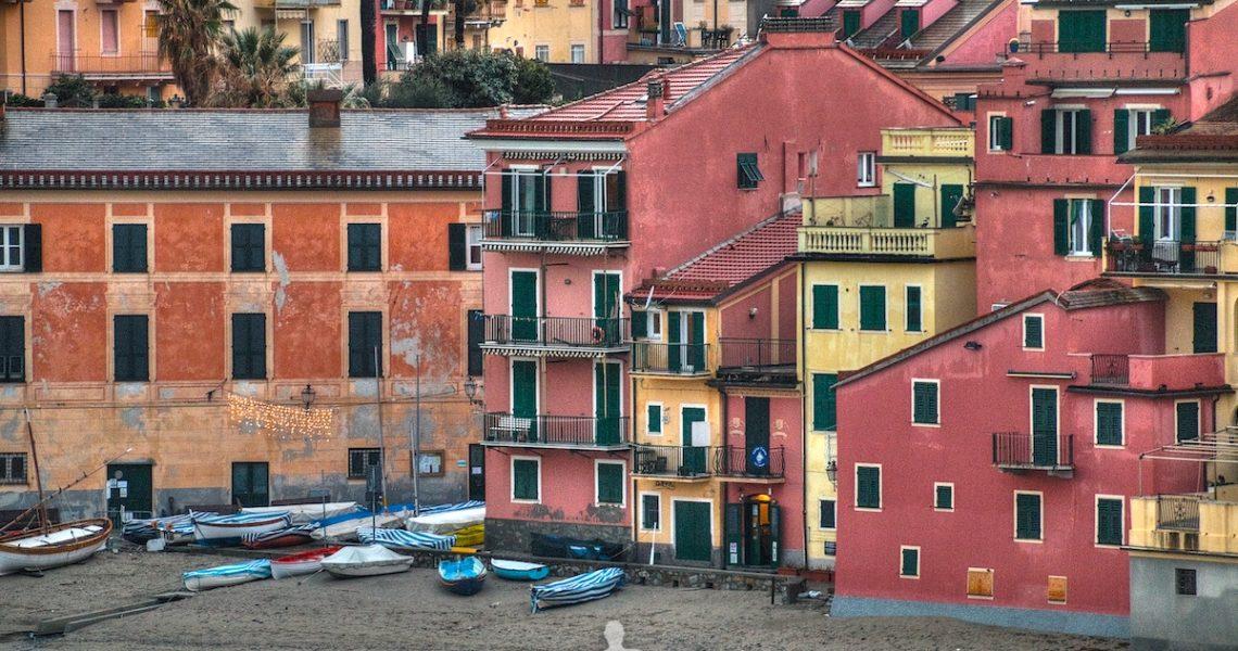 Le case sul mare a Sestri Levante