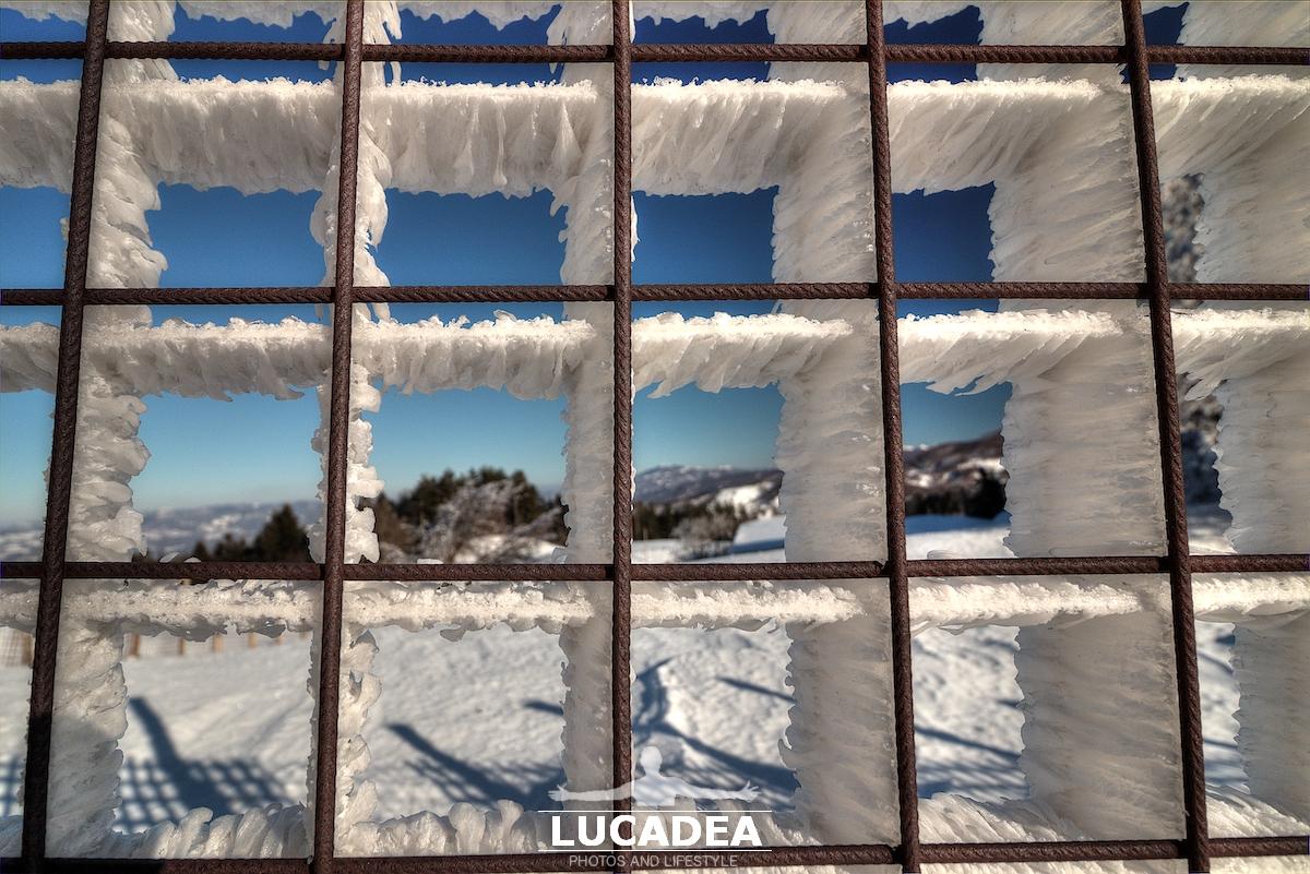 Il ghiaccio formatosi col vento