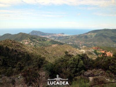 La vista di Sestri Levante da sopra Villa Libiola