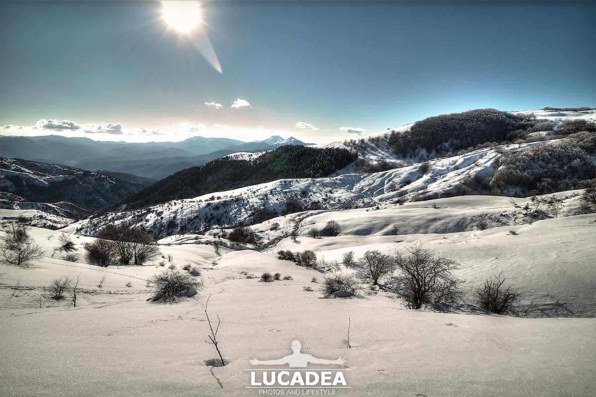 La neve a Centocroci lo scorso inverno