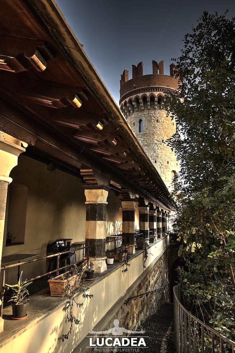 Portico del Castello d'Albertis a Genova