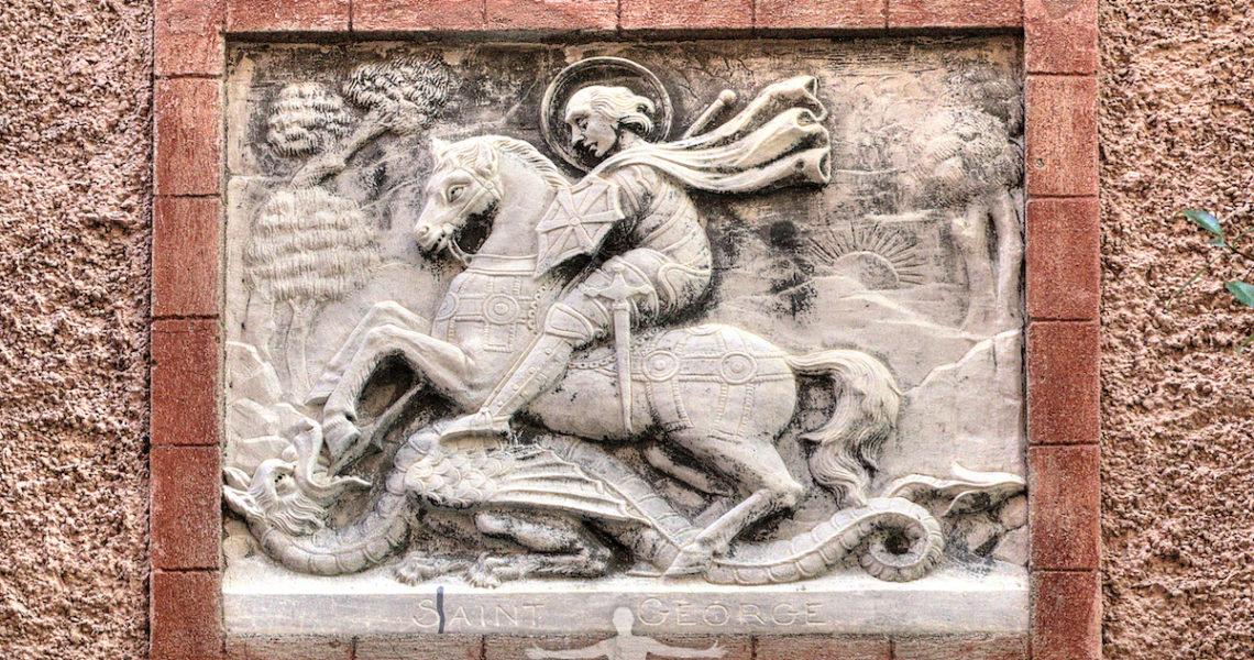 Bassorilievo di San Giorgio a Moneglia