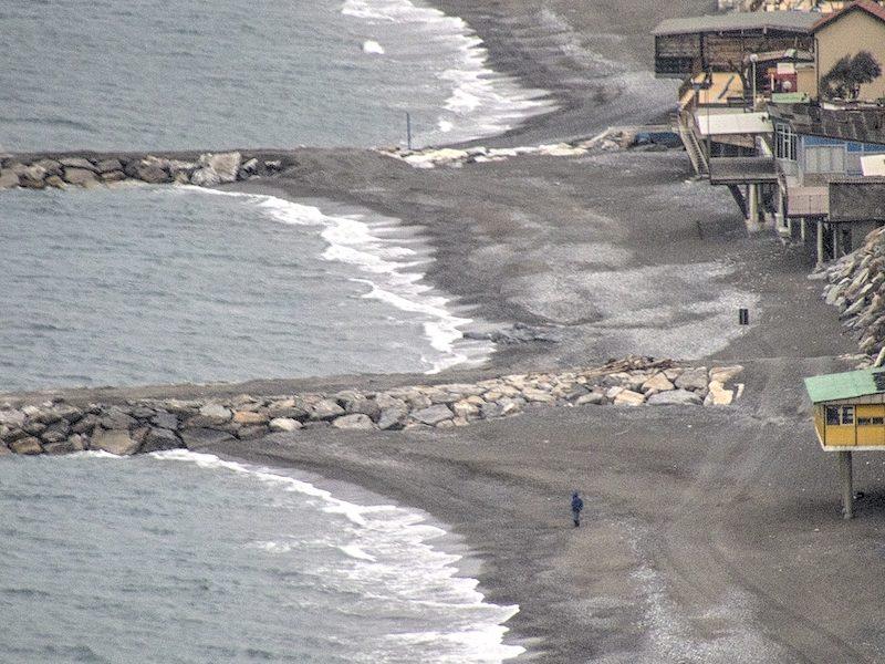 La spiaggia di Cavi di Lavagna