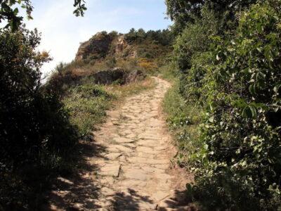 La strada per le Rocche di Sant'Anna a Sestri Levante