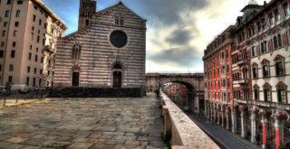 Piazza della Abbazia di Santo Stefano a Genova