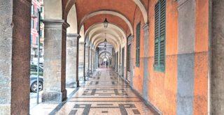 I portici di Corso Garibaldi a Chiavari