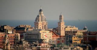 La vista di Carignano da Castelletto